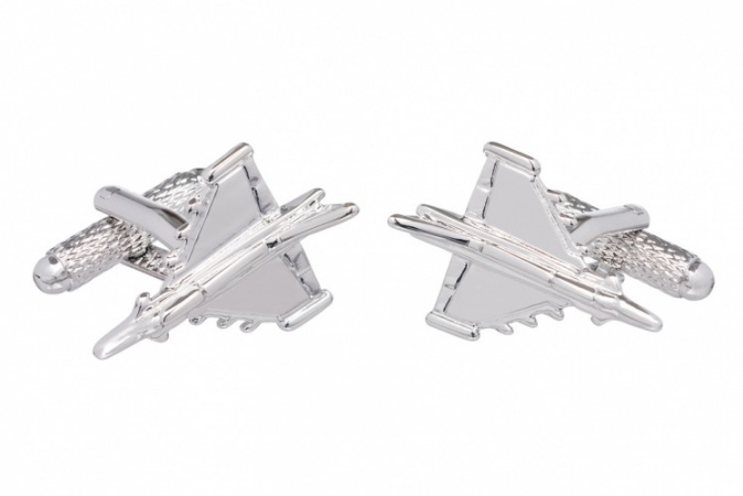 Typhoon Fighter Jet Cufflinks
